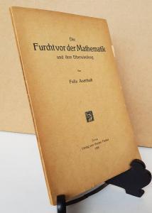 Auerbach, Felix. Die Furcht vor der Mathematik und ihre Überwindung.