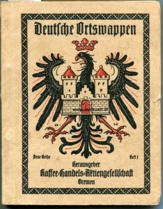 Hupp, Otto (Zeichnungen und Text). Deutsche Ortswappen : Neue Reihe Heft 1-4.