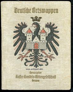 Hupp, Otto (Zeichnungen und Text). Deutsche Ortswappen :