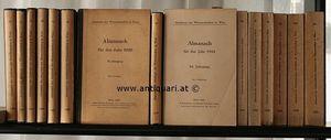 Akademie der Wisenschaften in Wien. Almanach für das Jahr 1926 - 1951.