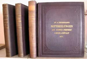 Petermann, A. Mittheilungen aus Justus Perthes geographischer Anstalt über wichtige neue Erforschungen auf dem Gesammtgebiete der Geographie.