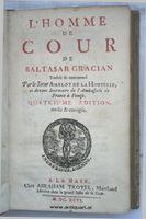 Gracian, Baltasar. LHomme de Cour.
