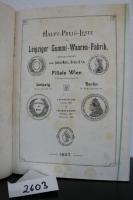 Aktiengesellschaft, vorm. Julius Marx, Heine & Co. (Hrsg.). Haupt-Preis-Liste der Leipziger Gummi-Waaren-Fabrik
