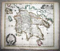 Sanson, Nicolas Peloponnesi quae hodie Morea descriptio. Auctore N. Sanson. Amsterdami, Apud. P. Mortier. Cum Privilegio.
