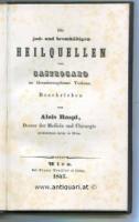 Raspi, Alois. Die jod- und bromhältigen Heilquellen von Castrocaro im Grossherzogthume Toskana.