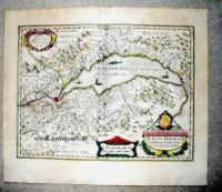 Mercator - Hondius - Lacus Lemani Vicinorumq Locorum Nova et Accurata Descriptio.