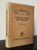 Carnap, Rudolf. Logische Syntax der Sprache.
