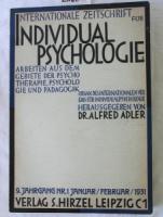 Adler, Alfred (Hrsg.). Internationale Zeitschrift für Individualpsychologie. 9. Jahrgang 1931 Nr. 1-6.